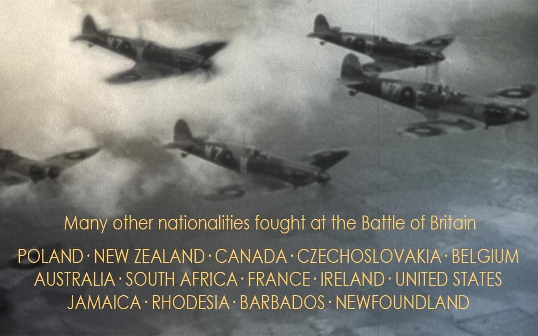 Many nationalities fought at the Battle of Britain