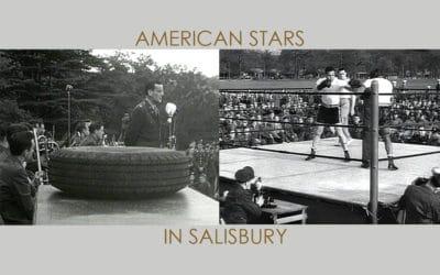 Glenn Miller & Joe Louis in Victoria Park Salisbury