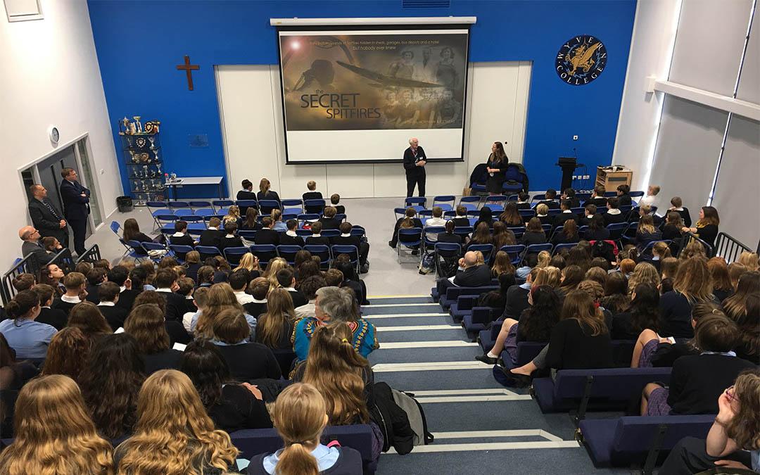 Secret Spitfires Visits St Edmund's School & Wyvern College